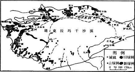 塔里木盆地的东部