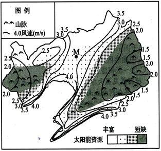 布和太阳能资源区划示意图(右图 (   山东省济宁市泗水一中2012-