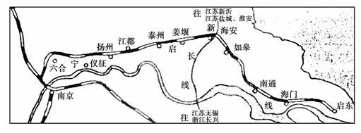 随着南京到启东的宁启铁路的建设