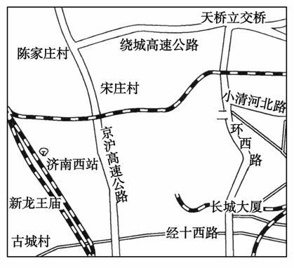 结合京沪高速铁路济南站规划图