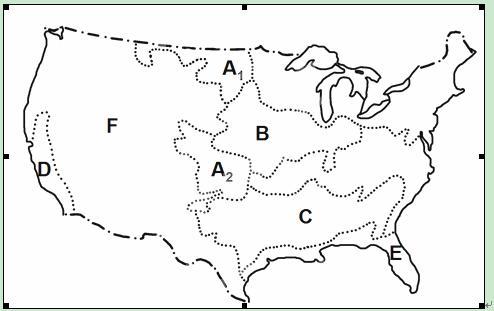 """读""""美国农业带的分布图"""""""