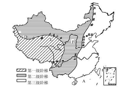 读中国地形图,回答问题.