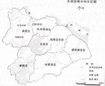 太湖流域行政区划分属江苏,浙江,上海和安徽三省一市图片
