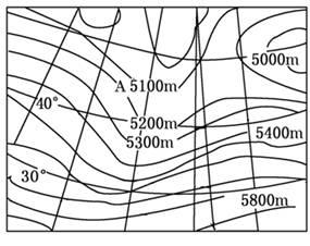 南半球高空的水平气压梯度力,地转偏向力,风向,摩擦力图片
