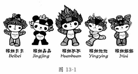 2008年北京奥运会吉祥物 中国福娃 被亲切地叫做 贝贝 晶晶 欢欢图片